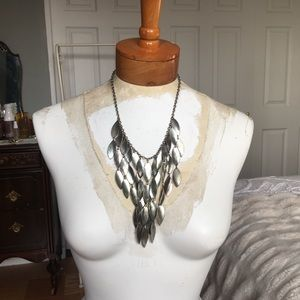 Silver-toned Vintage Cascading Necklace 90s